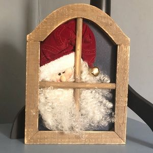 Santa looking out window Decor